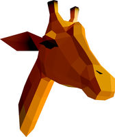 Low poly illustration. Giraffe