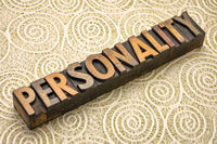 personality word in wood type