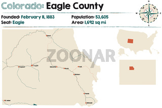 Map of Eagle County in Colorado