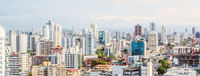 Cityscape aerial,  skyline of downtown Panama City -