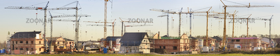 residential houses under construction