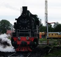 Locomotive, front view