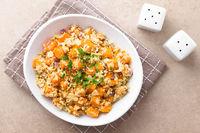 Roasted Pumpkin, Cauliflower and Red Onion Salad