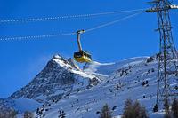 Kabine der Diavolezza Seilbahn, Val Bernina, Engadin, Graubünden, Schweiz