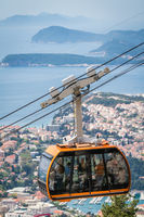 Dubrovnik cable car going up to Mt Srd