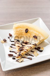 Crape ice cream
