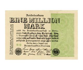 Eine Million Mark (meaning One Million Mark) note