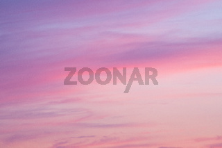 Colorful sunset clouds at dusk sky scape