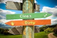 Street Sign Clean versus Dirty
