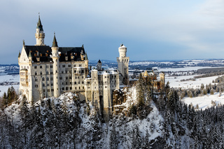 Winter in Bavaria - Schwangau - Neuschwanstein Castle.