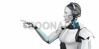 Callbot Robot Headset Click