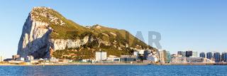 Gibraltar panorama landscape The Rock Mediterranean Sea