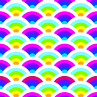 Bright seamless pattern with half rounds and curls