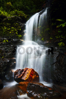 Tranquil waterfall idyllic Blue Mountains