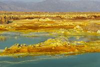 Heisse Mineralquellen, Geothermalgebiet Dallol, Danakilsenke, Afar Dreieck, Äthiopien