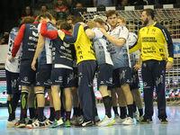 Auszeit Besprechung SG Flensburg-Handewitt, Liqui Moly HBL, Handball-Bundesliga Saison 2019-20