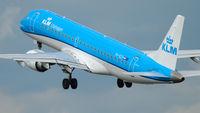 KLM Cityhopper Embraer 190 take-off