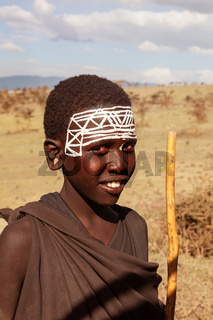 Portrait of young maasai warrior