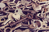 Vintage keys to a door and furniture