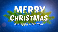 merry christmas animated logo, ideal footage for the Christmas period