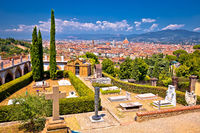 Florence cityscape panoramic view from San Miniato al Monte