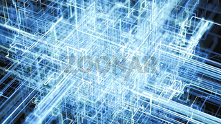 Digital Connectivity, Artificial Intelligence And Data Storage Concept