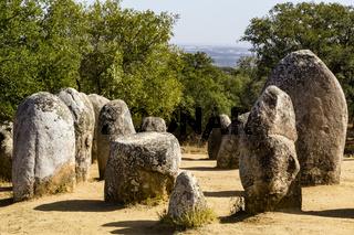 Cromlech von Dos Almendres, Évora, Portugal
