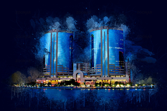 Dubai Architecture, Dubai Creek View