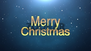 Merry Christmas text on blue background