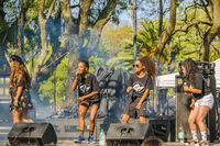Hip Hop Women Band at Park Stage, Montevideo, Uruguay