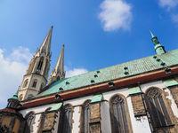 Görlitz, Sachsen, Deutschland: Nahaufnahme der St. Peter und Paul Kirche