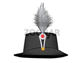 schwarzer eleganter Federhut