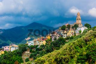 View of Legnaro in the Province of La Spezia