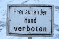 schild, hund verboten