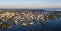 Aerial view of the Oulu city in Finland