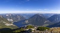 Panoramic view of the Lake Hallstatt valley in Ausrtia