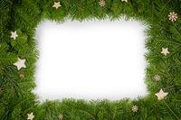 Christmas border of fir branches