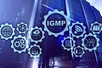 IGMP. Internet Group Management Protocol concept. Communications Technology.