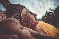 Reclining Buddha, Wat Phutthaisawan temple, Ayutthaya, Thailand