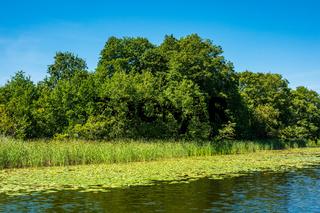 Landschaft mit See nahe Templin