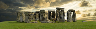 Mystic Stonehenge in England, Europe. Concept for travel, astronomy,religion,esoteric and touristic themes.