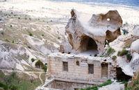 Ruins of the ancient Greek temple in Cappadocia