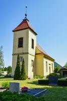 Dorfkirche Nudow, Landkreis Potsdam-Mittelmark, Brandenburg, Deutschland