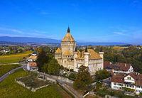 Schloss Vufflens, Vufflens-le-Château, Waadt, Schweiz
