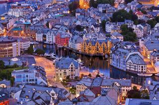 Cityscape of Alesund - Norway