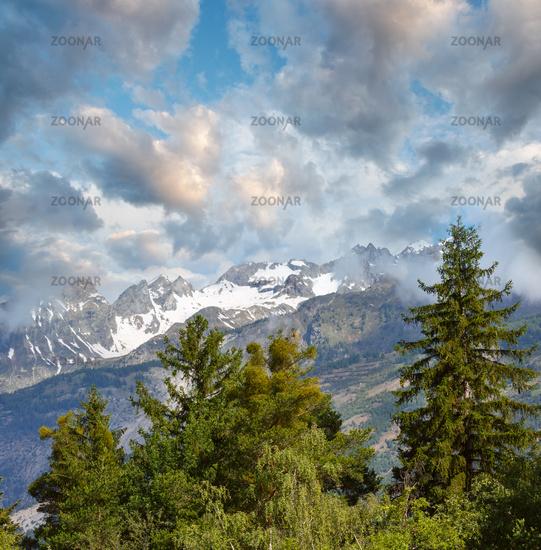Summer mountain landscape, Alps, Switzerland