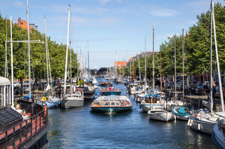 Christianshavn channel in Copenhagen, Denmark