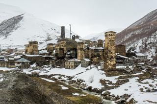 view on uschguli village