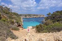 Danger sign Calo des Moro Mallorca