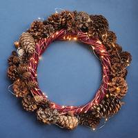 Christmas wreath background